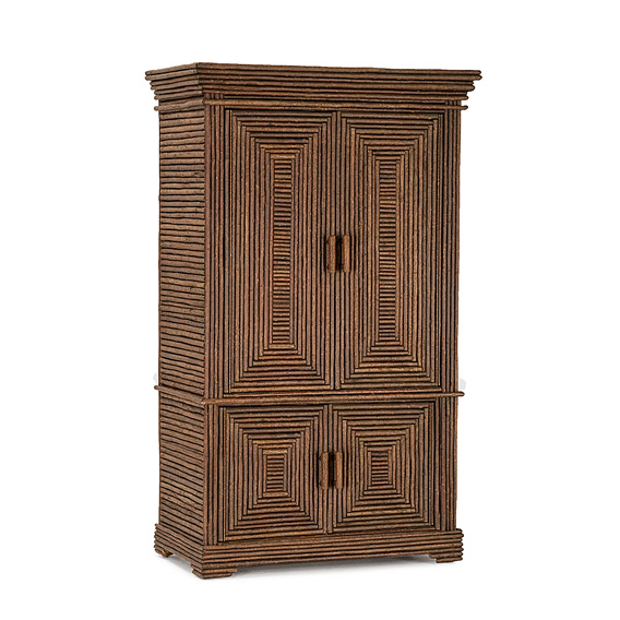 Rustic Armoire #2044 shown in Natural Finish (on Bark)