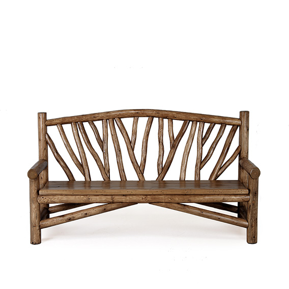 Rustic Bench #1502 (shown in Kahlua Finish on Peeled Bark)