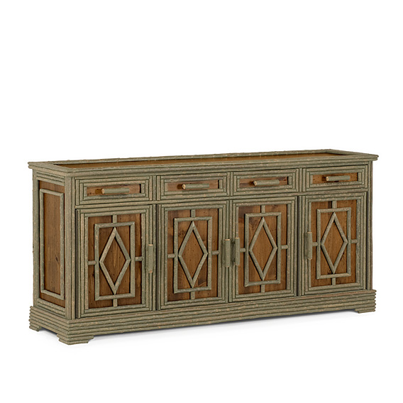 Rustic Buffet #2116 (Shown in a Custom Finish - Medium Pine with Willow in Sage Finish)