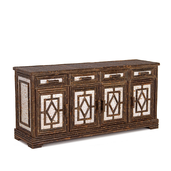 Rustic Buffet #2510 shown in Natural Finish (on Bark)