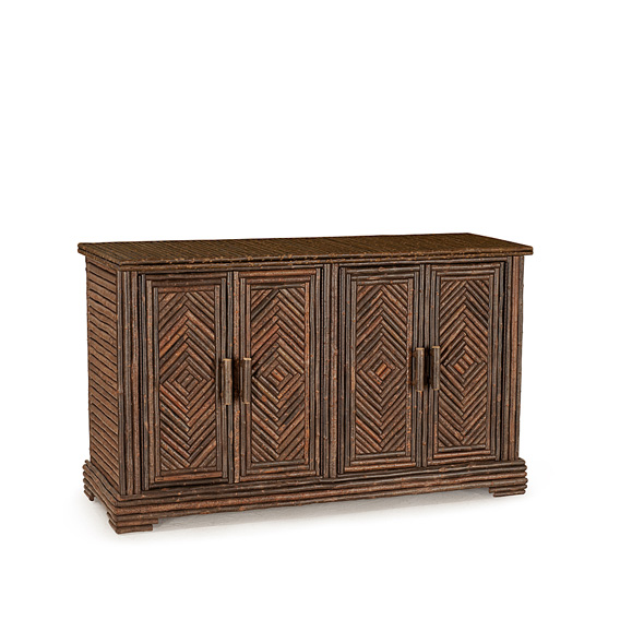 Rustic Cabinet #2124 shown in Natural Finish (on Bark)