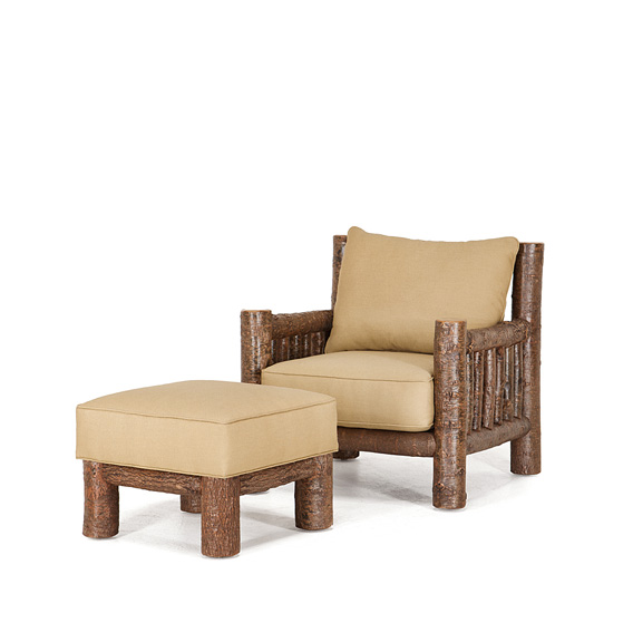 Rustic Lounge Chair #1276 & Ottoman #1277 shown in Natural Finish (on Bark)