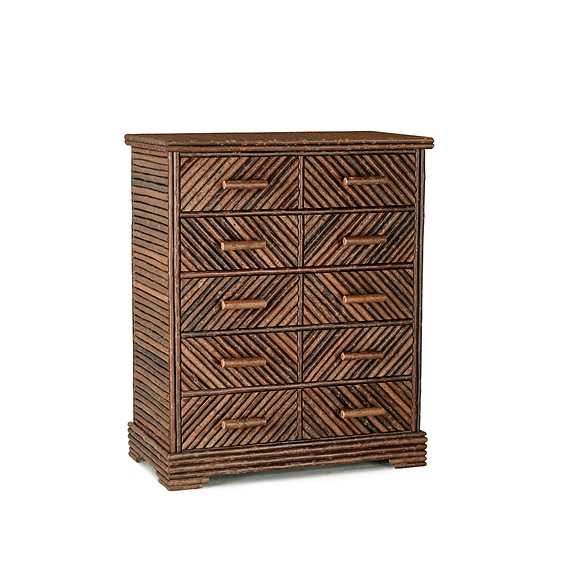 Rustic Six Drawer Chest #2130 shown in Natural Finish (on Bark)
