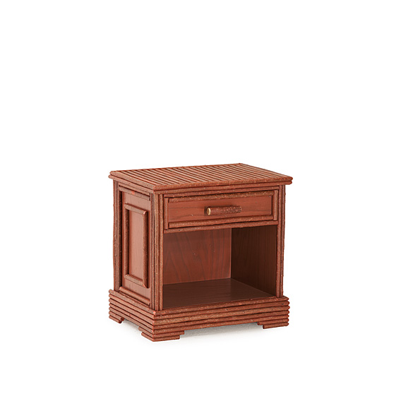 Rustic Open Nightstand #2157 (Shown in Redwood Finish)