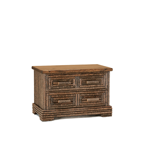 Rustic Chest #2187 shown in Natural Finish (on Bark) with Medium Pine Top