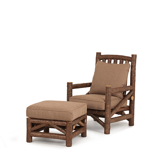Rustic Club Chair #1230 & Ottoman #1243 (shown in Natural Finish on Bark)