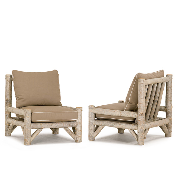Rustic Armless Lounge Chair #1252 (Shown in Sandstone Finish)