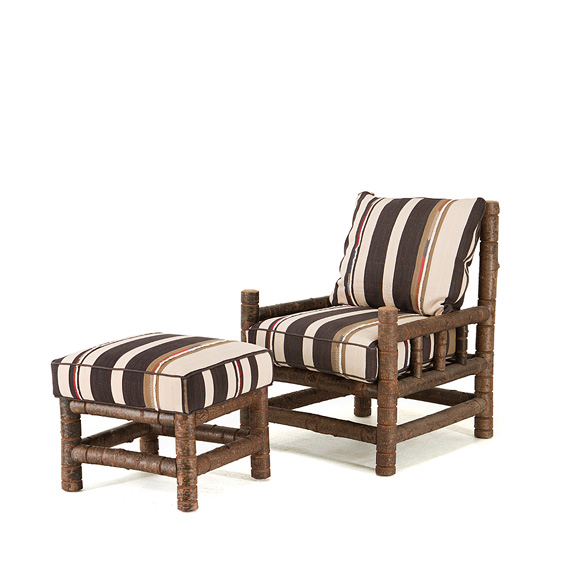 Rustic Club Chair #1261 & Ottoman #1263 (shown in Natural Finish)
