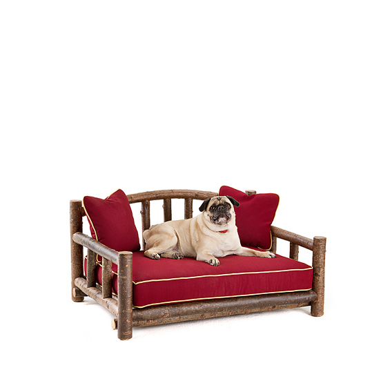 Rustic Dog Daybed #5102 shown in Natural Finish (on Bark)