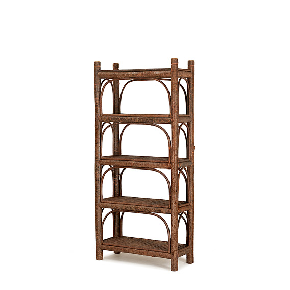 Rustic Five Tier Etagere #2164 shown in Natural Finish (on Bark)
