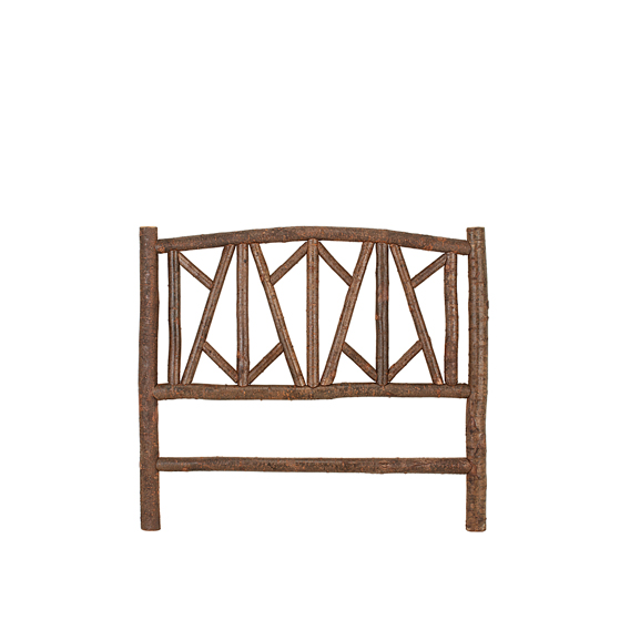 Rustic Headboard Queen #4050 shown in Natural Finish (on Bark)