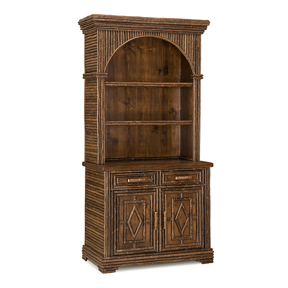 Rustic Hutch #2039 shown in Natural Finish (on Bark)