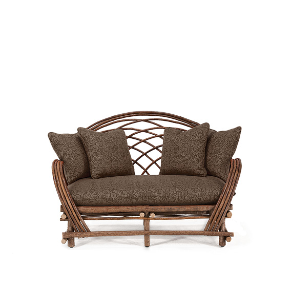 Rustic Loveseat #1014 shown in Natural Finish (on Bark)