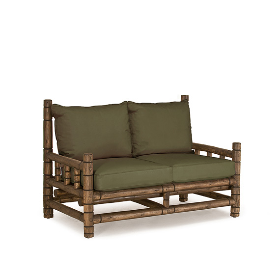 Rustic Loveseat #1265 shown in Kahlua Premium Finish (on Peeled Bark)