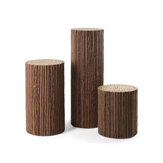 Rustic Pedestals #3550, #3556, #3558 (shown in Natural Finish)