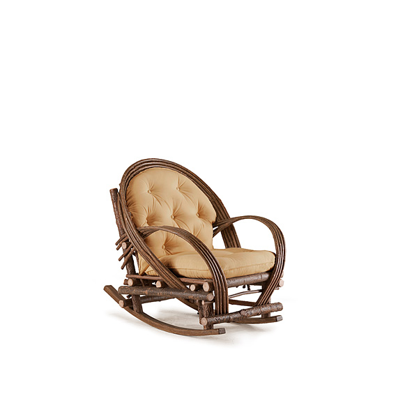 Rustic Rocking Chair #1034 shown in Natural Finish (on Bark)