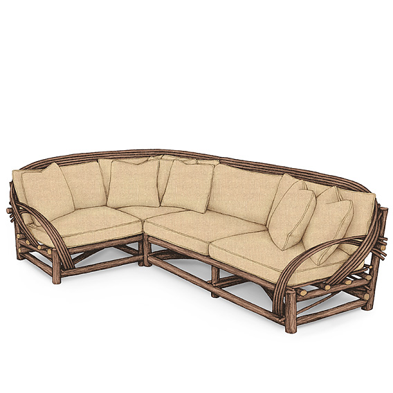 Rustic Sectional #1087 & #1089 shown in Natural Finish (on Bark)