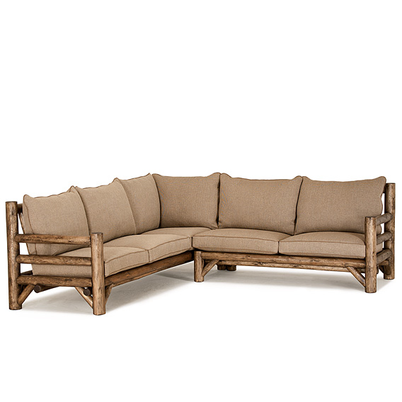 Rustic Sectional #1574 (shown in Kahlua Finish)