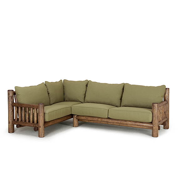 Rustic Sectional #1580R (Shown in Kahlua Finish)