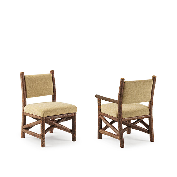 Rustic Dining Side Chair #1281 & Dining Arm Chair #1282 shown in Natural Finish (on Bark)