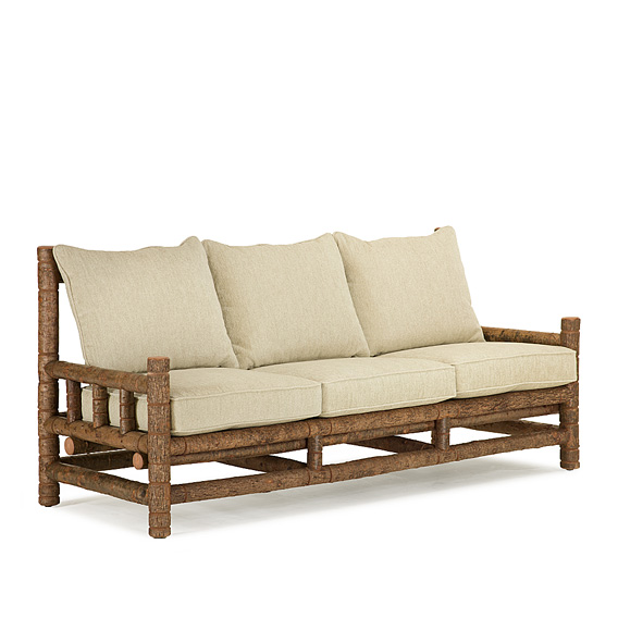 Rustic Sofa #1267 shown in (Natural Finish on Bark)