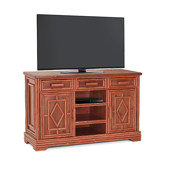Rustic TV Cabinet #2594 (Shown in Redwood Finish)