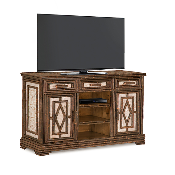 Rustic TV Cabinet #2600 (Shown in Natural Finish)