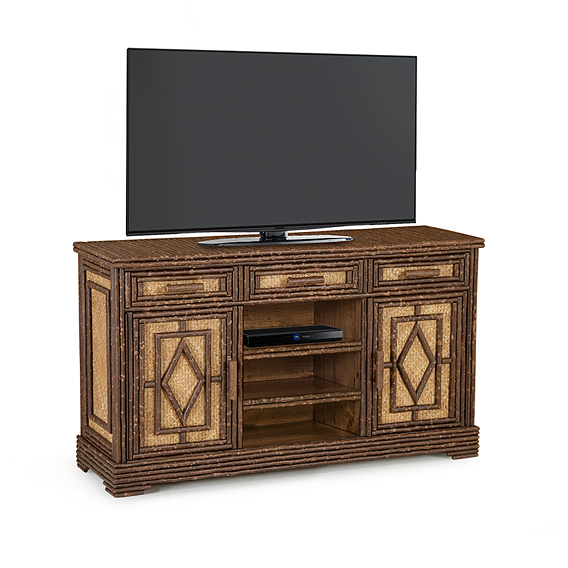 Rustic TV Cabinet #2606 (Shown in Natural Finish)