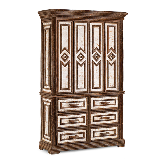 Rustic TV Cabinet #2624 (Shown in Natural Finish)