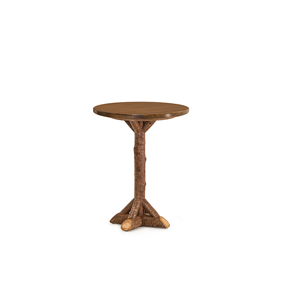 Rustic Bar Table #3051 (shown in Natural Finish on Bark with Medium Pine Top)