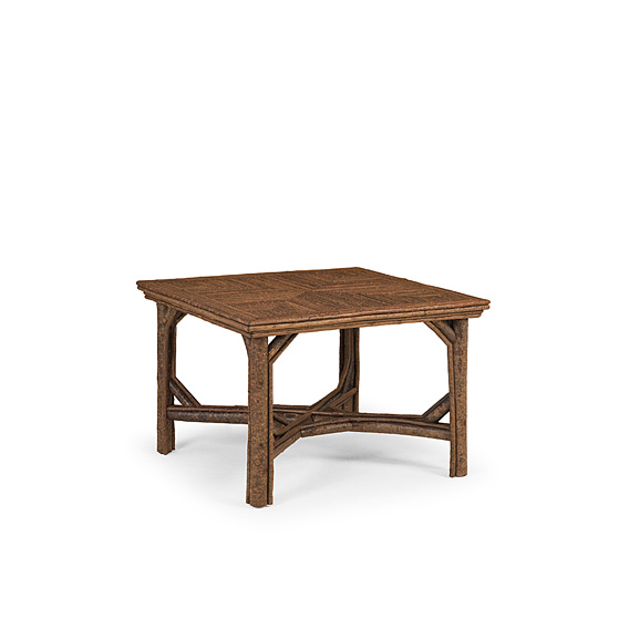 Rustic Table with Willow Top #3054 shown in Natural Finish (on Bark)