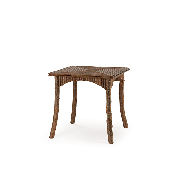 Rustic Table #3185 shown in Natural Finish (on Bark)