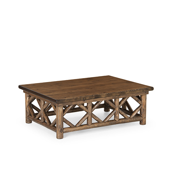 Rustic Coffee Table #3233 (Shown in Kahlua Finish with Dark Pine Top)