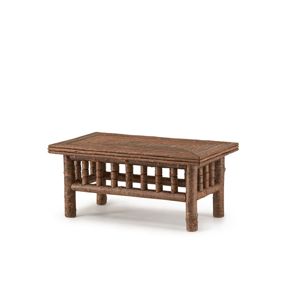 Rustic Coffee Table #3456 shown in Natural Finish (on Bark)