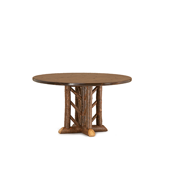 Rustic Dining Table #3604 (Shown in Natural Finish & Medium Pine Top)