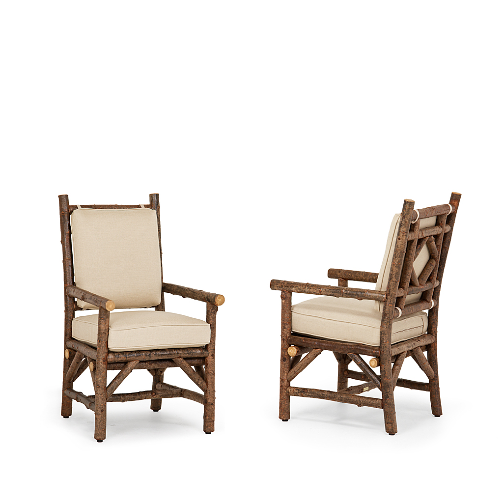 ... Rustic Dining Arm Chair #1290 W/Optional Tie On Back Pad U0026 Loose ...