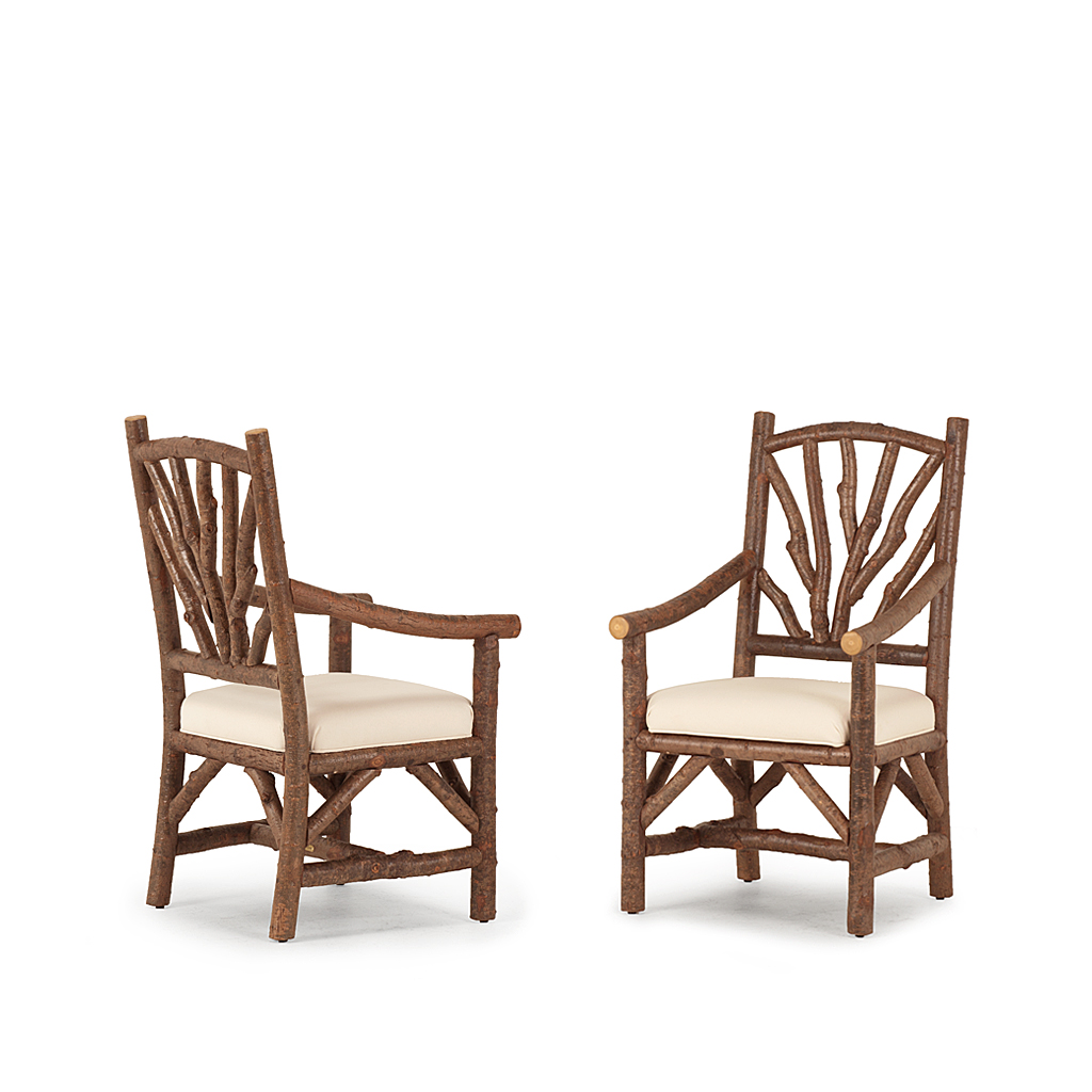 Rustic dining side chair arm la lune collection
