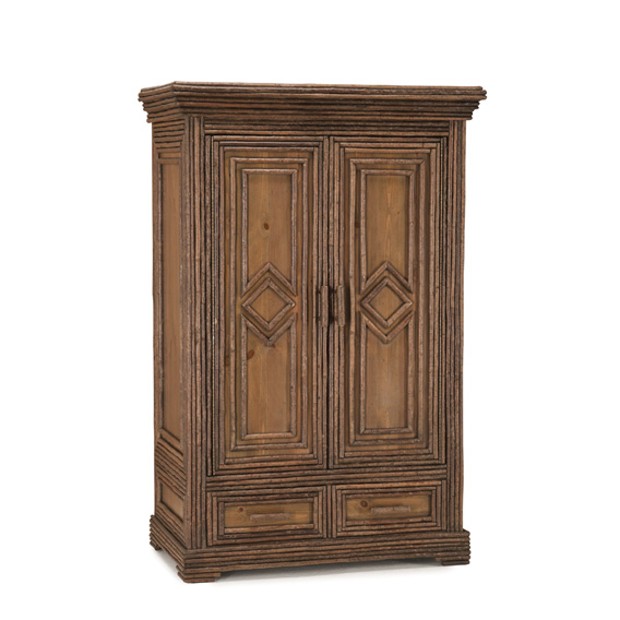Rustic Armoire #2023 shown in Natural Finish (on Bark)