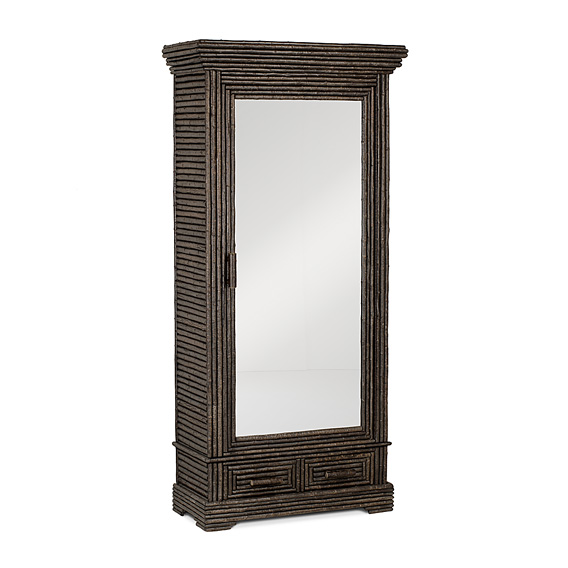 Rustic Armoire with Mirrored Door #2029 (Shown in Ebony Finish)