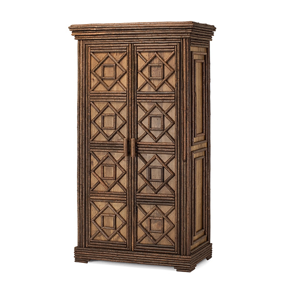 Rustic Armoire #2046 shown in Natural Finish (on Bark)