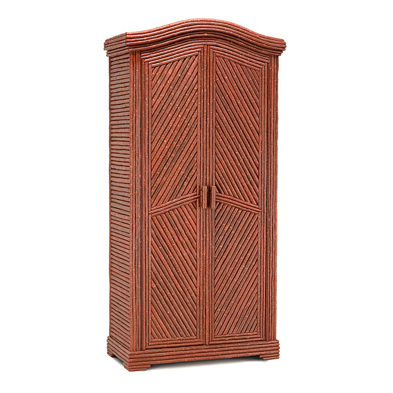 Rustic Armoire #2064 shown in Redwood Premium Finish (on Bark)