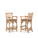 Barstool with Arms #1124 shown in Pecan Premium Finish (on Peeled Bark) La Lune Collection