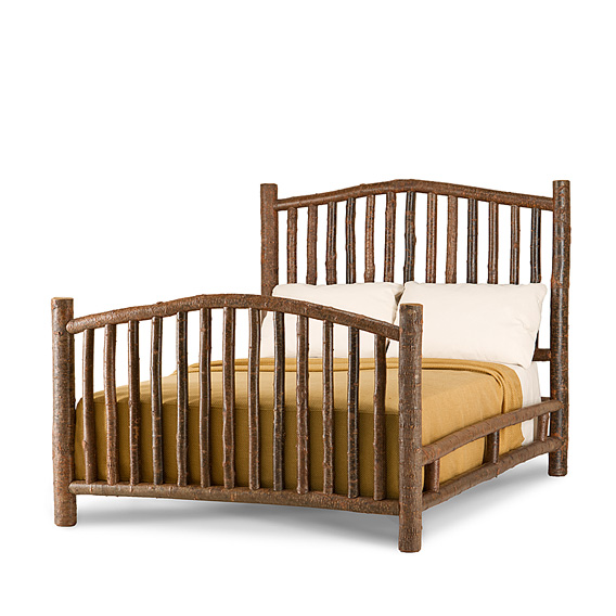 Rustic Bed Queen #4004 shown in Natural Finish (on Bark)