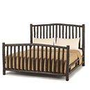 Bed King #4006 shown in Premium Ebony Finish (on Bark) La Lune Collection