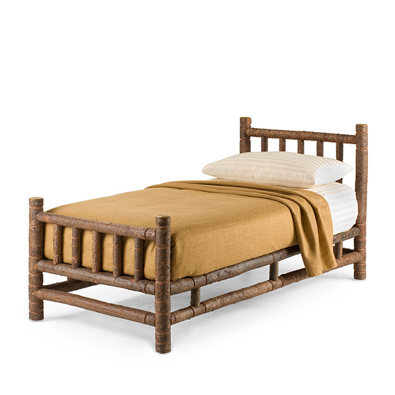 Rustic Bed Twin #4111 (Shown in Natural Finish)