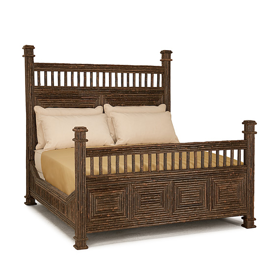 Rustic Bed Queen #4208 (shown in Natural Finish)