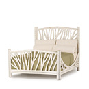 Bed Queen #4304 shown in Antique White Premium Finish (on Bark) La Lune Collection