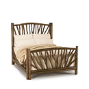 Bed Queen #4304 shown in Kahlua Premium Finish (on Peeled Bark) La Lune Collection