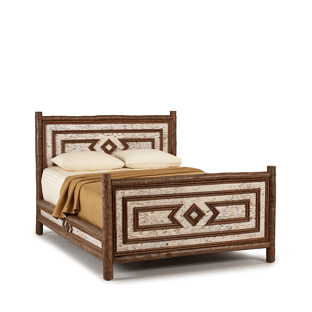 Rustic Bed Queen 4564 Shown In Natural Finish