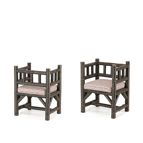 Rustic Arm Chair #1300 (Shown in Ebony Finish)